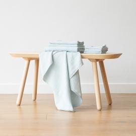 Set di 4 Asciugamani da Viso in Lino Ghiaccio Washed Waffle