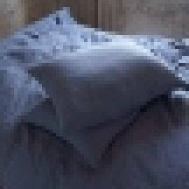 Federa da cuscino in lino mirtillo Stone Washed