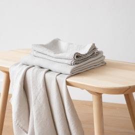 Set di Asciugamani da Bagno in Lino Argento Washed Waffle