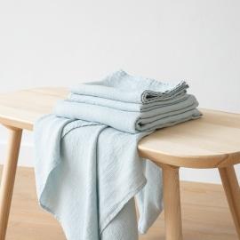 Set di Asciugamani da Bagno in Lino Ghiaccio Washed Waffle