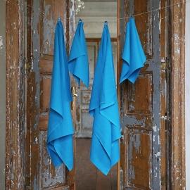 Set di asciugamani da bagno color turchese Lara