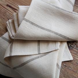 Set di 2 strofinacci da cucina in lino naturale Brittany Large