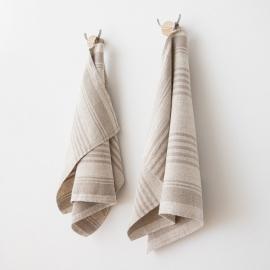 Set di 2 strofinacci da cucina in lino naturale Linum