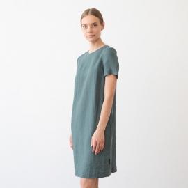 Vestito in lino grigio chiaro Isabella