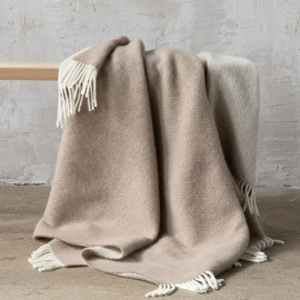 Telo in lana color grigio talpa Roberto