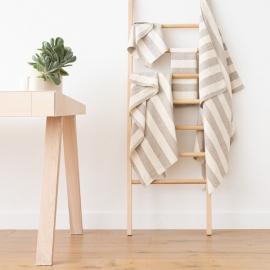 Set di asciugamani da bagno in lino crema naturale Philippe
