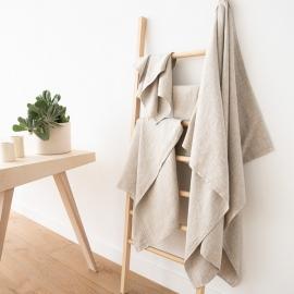 Set di asciugamani da bagno in lino beige Twill