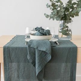 Balsam Verde Tovagliolo in Lino Stone Washed