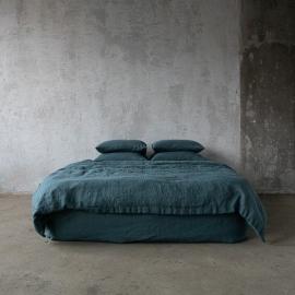 Balsam Green Tessuto di lino Stone Washed