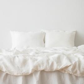 Bianco Panna Set di Biancheria da Letto  Stone Washed