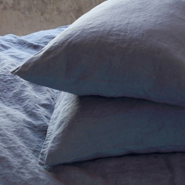 Set di biancheria da letto in lino mirtillo Stone Washed