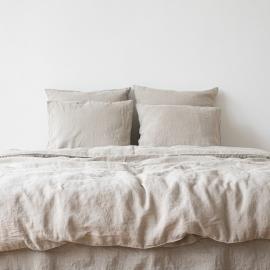 Set di biancheria da letto naturale Stone Washed