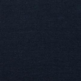 Navy Tessuto di lino Stone Washed