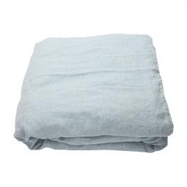 Copripiumino in lino stone blue Stone Washed Rhomb
