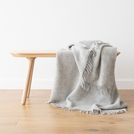 Telo di pura lana vergine argento Paula