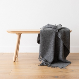 Telo di pura lana vergine grigio Paula
