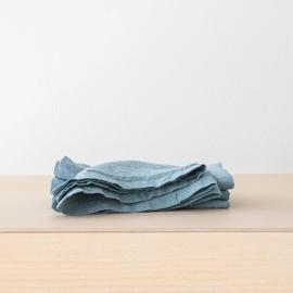 Tovagliolo in Lino Stone Washed Stone Blue
