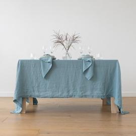 Tovaglia in lino Stone Washed Stone Blue