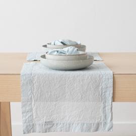Tovaglietta in Lino Ice Blue Stone Washed