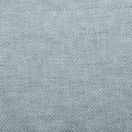Stone Blue Tessuto di lino Stone Washed Rhomb