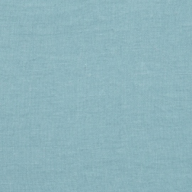 Stone Blue Linen Fabric Stone Washed
