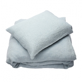 Set di biancheria da letto Stone Washed Rhomb Stone Blue