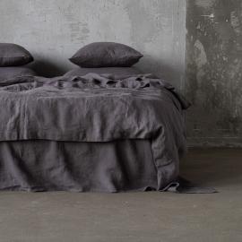 Copripiumino in lino Steel Grigio Stone Washed