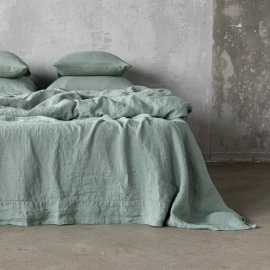 Lenzuolo in lino Spa Green Stone Washed