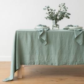 Tovaglia in lino Stone Washed Spa Green