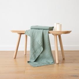 Asciugamano da Bagno in Lino Spa Green Washed Waffle