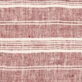 Tessuto Lino Ciliegio Multistripe