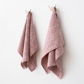 Set di 2 Cherry Asciugamani da mano in Lino Francesca