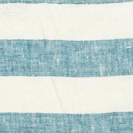 Tessuto di Lino Lavato Blu Marino Philippe