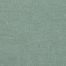 Spa Green Tessuto di lino Stone Washed