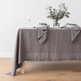 Tovaglia in lino Stone Washed Steel Grey
