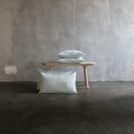 Stone washed  Cuscino Lino Copertura di Ghiaccio Blu