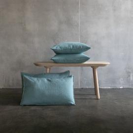 Stone washed  Cuscino Lino Coperchio Pietra Blu