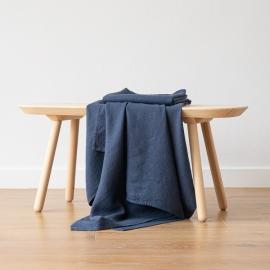 Asciugamano da Bagno in Lino Indigo Washed Waffle
