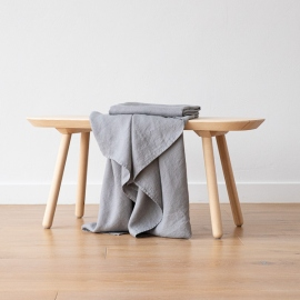 Asciugamano da Bagno in Lino Graphite Washed Waffle