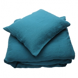 Set di biancheria da letto Marine Blue Stone Washed