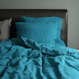 Marine Blue Set di Biancheria da Letto  Stone Washed