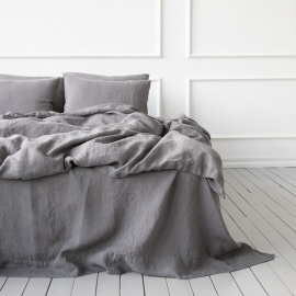 Set di biancheria da letto Steel Grey Stone Washed