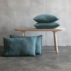 Balsam Verde Cuscino Lino Stone Washed