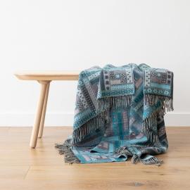 Telo in lana merino turchese Marta