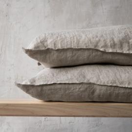 Stone Washed  Cuscino Lino  Natural