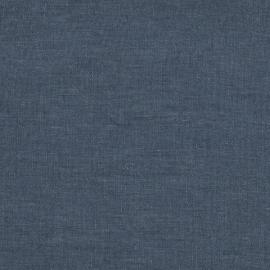 Marine Blue Bed Linen Fabric Sample