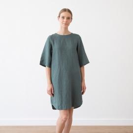 Vestito Balsam Green lino Luisa