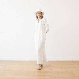 Abito bianco lino Dona