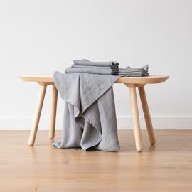 Set di Asciugamani da Bagno in Lino Graphite Washed Waffle