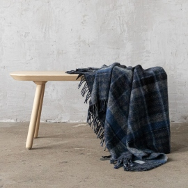 Grey Pure New Wool Throw Ardriano